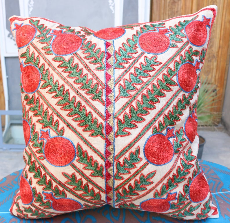 Hand made embroidery pillow cover
