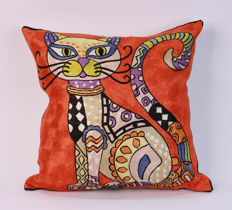 Picasso cat pillow cover