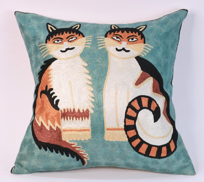 Two Cats Picasso pillow cover